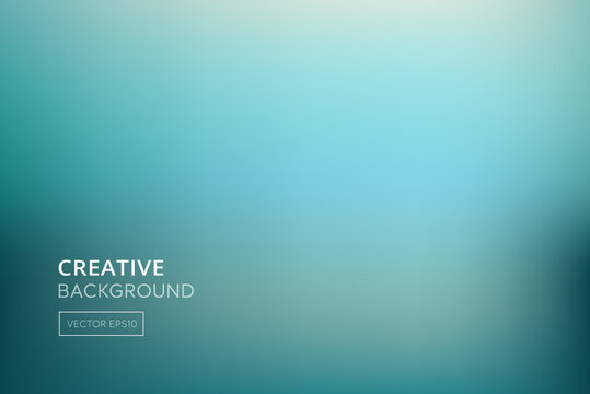 Bright gradient abstract sea green turquoise background