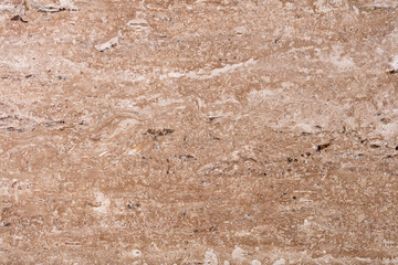 Wall Mural - Unique natural travertine background in beautiful brown tone.
