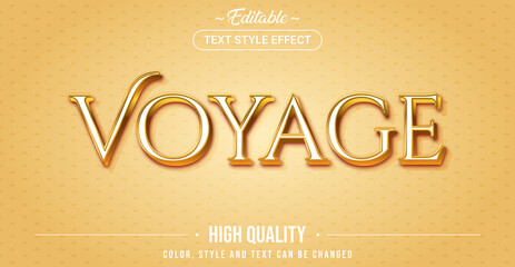 Editable text style effect - Voyage theme style.