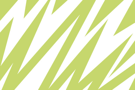 Lime green and white zig zag wavy lightning pattern