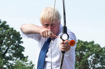 Britain's PM Johnson visits Premier Education Summer Camp at Sacred Heart of Mary Girls' in Upminster