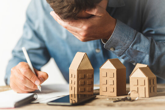 Eviction of person for non-payment of mortgage. Loss of home.