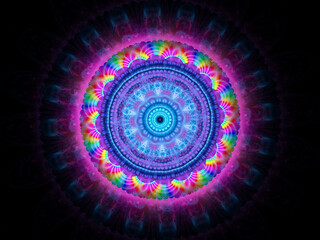 Colorful moder lmbtq+ space mandala isolated