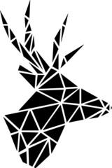 Geometric vector illustration of deer head