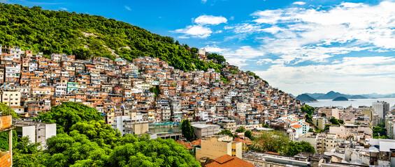 Favela Cantagalo in Rio de Janeiro - Brazil