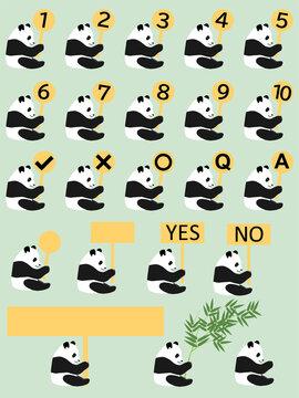 ランキング・パンダ セット(YES,NO,Q&A)