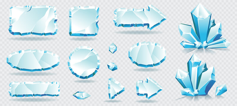 Vector collections with ice frames and ice crystals