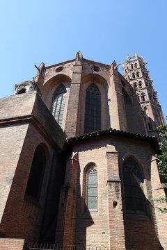 Vue extérieure du Couvent des Jacobins à Toulouse