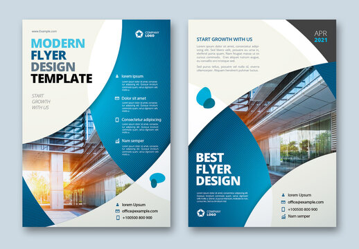 Colorful Business Flyer Layout with Circle Elements