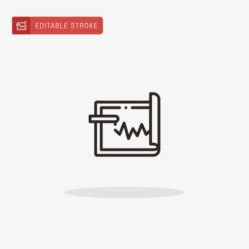 Seismograph icon vector. Seismograph icon for presentation.