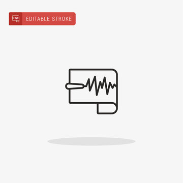 Seismometer icon vector. Seismometer icon for presentation.