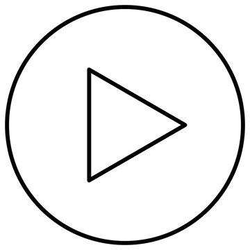 再生用のボタンのベクターアイコン