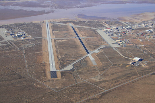 Aerial view of Edwards Air Force Base Kern County California