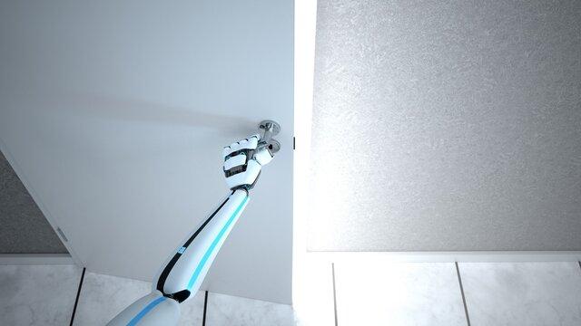 Humanoid Robot Hand Door