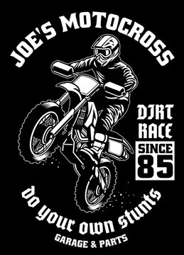 shirt design of motocross garage