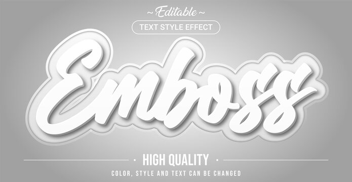 Editable text style effect - Emboss theme style.