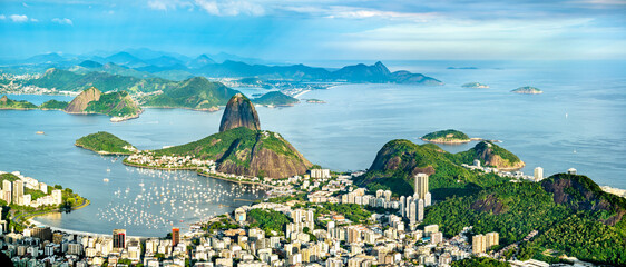 Printed kitchen splashbacks Coast Cityscape of Rio de Janeiro from Corcovado in Brazil