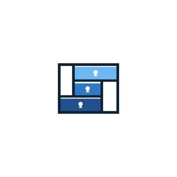 logo design split home, room,cut vector