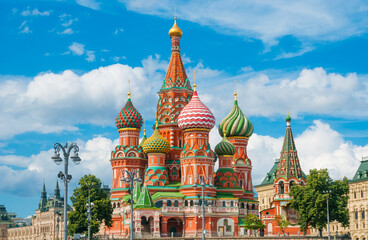 Cathedral of St. Basil at the Red Square in Moscow, Russia