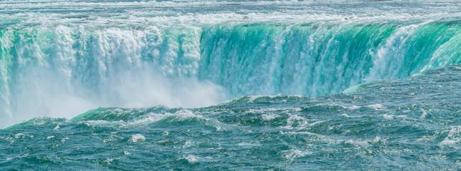 Niagara falls closeup,  as if a sinking hole in the ocean.