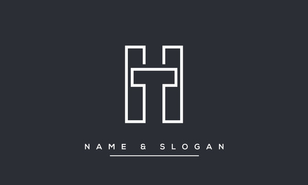HT ,TH ,H ,T Abstract Letters Logo Monogram