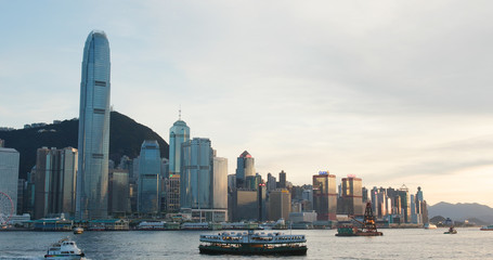 Wall Mural - Hong Kong city sunset