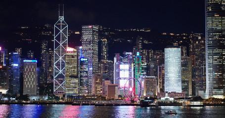 Wall Mural - Hong Kong landmark at night