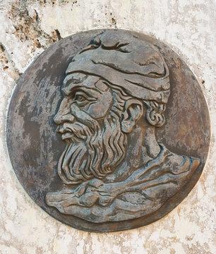 Decebalus king of Dacia portrait sculpture in Brad