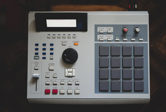 electronic musical instrument, drum machine for creating hip hop instrumentals