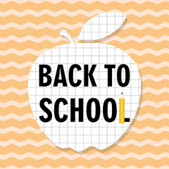 Garden Poster Retro sign back to school card