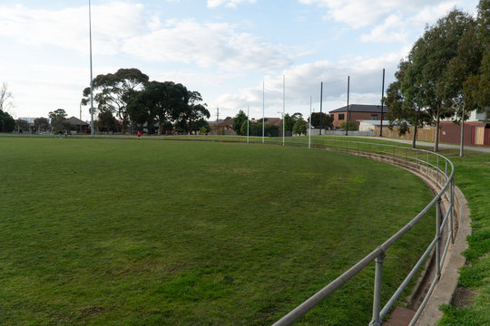An AFL football oval in the suburbs of Melbourne
