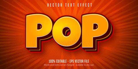 Fototapeta Pop text, pop art style editable text effect