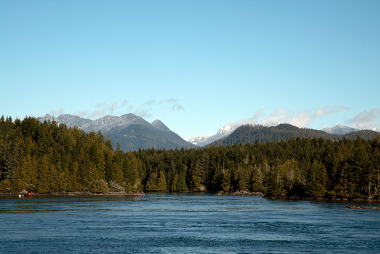 mountain lake in the mountains  in Tofino, Vancouver Island