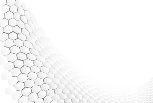 Hexagonal abstract backround