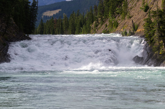 Bow Falls on a Partially Cloudy Day