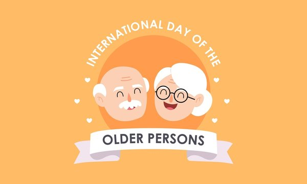 International day of older persons, Elderly background illustration