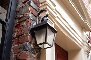 street light old lantern with old fashioned and elegant streetlight lantern looks cute light at yard or near porch Fotomurales