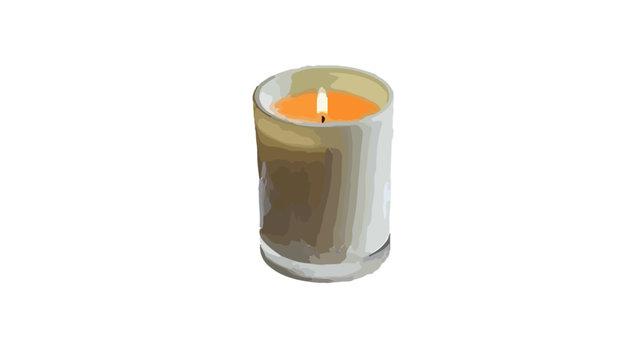 Candle 2d painting design colour