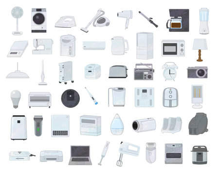 . Electrical product illustration material set / analog style