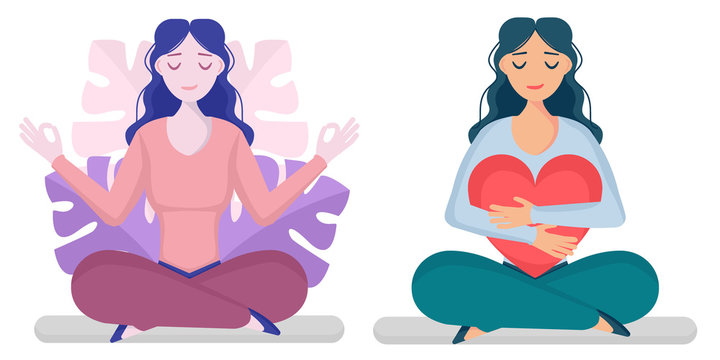girl, yoga set 1