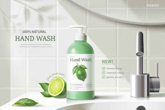Hand wash ad template