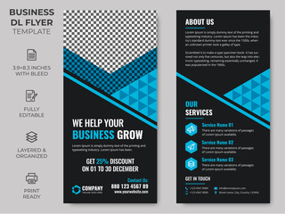 Rack Card Corporate DL Flyer Template