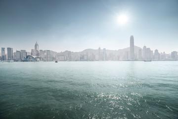 Fotomurales - sunny Hong Kong harbour, China