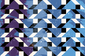 abstract geometric background pattern, with triangles, strokes and splashes, grungy style
