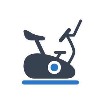 Spin bike icon