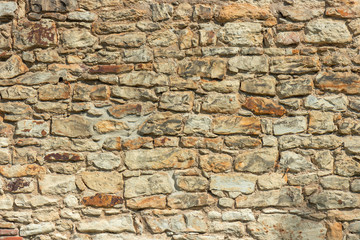 Close up of the stone brick wall. Natural pattern with high resolution for background and design...