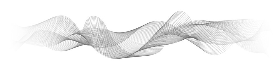 Photo sur Plexiglas Abstract wave abstract vector wave lines on white background