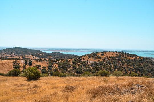 Foto de las vistas desde Monsaraz, Portugal