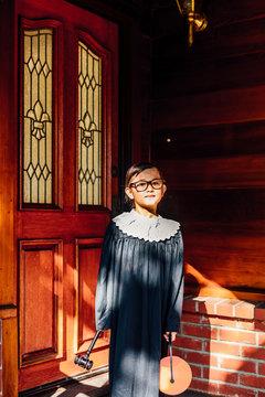 Trick or Treat in Judge Costume