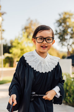 Kid Dressed Up for Halloween
